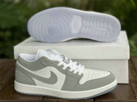 Authentic Air Jordan 1 Low White/Wolf Grey