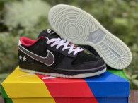 Authentic NLPL x Nike Dunk Low Black/White-Bright Crimson