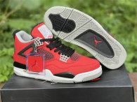 Authentic Air Jordan 4  Fire Red/White/Black