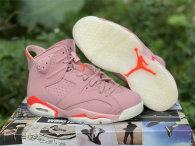 Authentic Aleali May x Air Jordan 6 Rust Pink/Bright Crimson