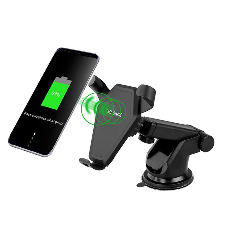 10W Quick Fast QI Car Wireless Charge Phone Holder for Mobile Phone