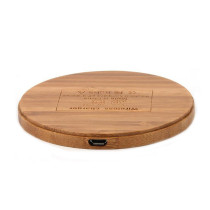 Fast Wireless Charger Quick Charging Pad 5V/9V Wood for Qi Enabled Devices for Phone 8/ 8P/ X