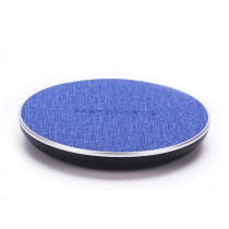 portable round flat 10W quick charging station qi wireless charger pad