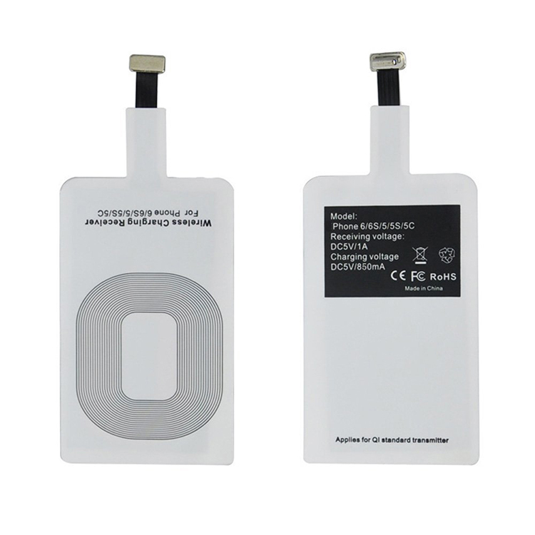 QI Standard Wireless Charger Receiver for iPhone and Android Mobile phones