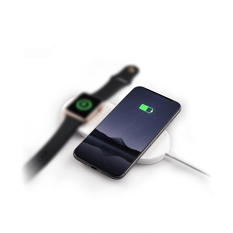 2 in 1 Wireless Charging Pad for Apple Watch Series and Mobile Phone