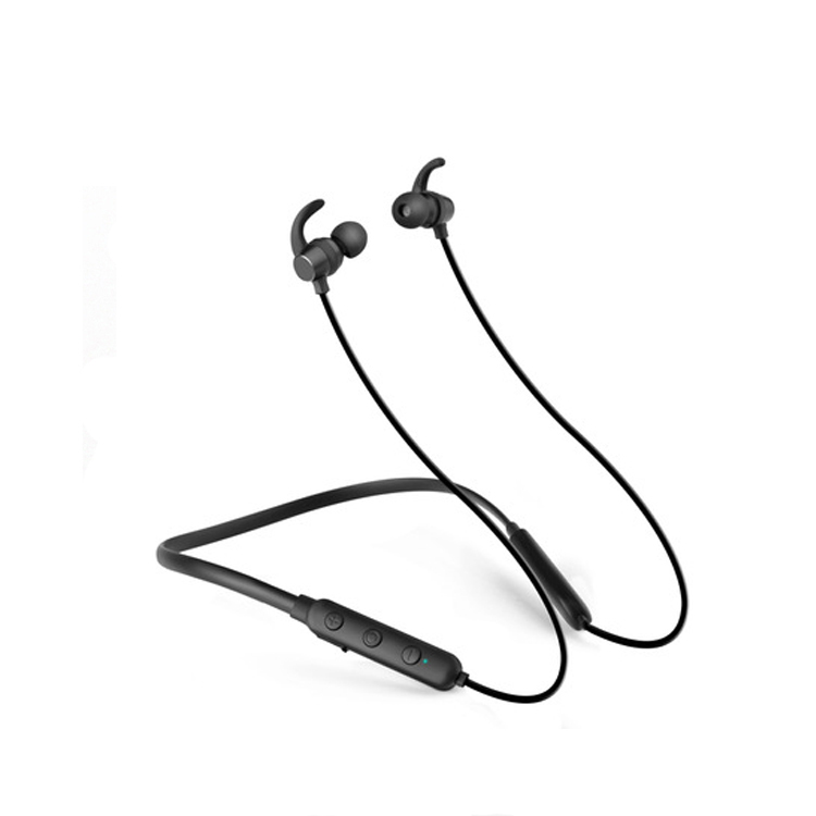 Wireless sports headphones with Mic CSR chipset Hifi quality, Magnetic switch, super long standby neckband earphone