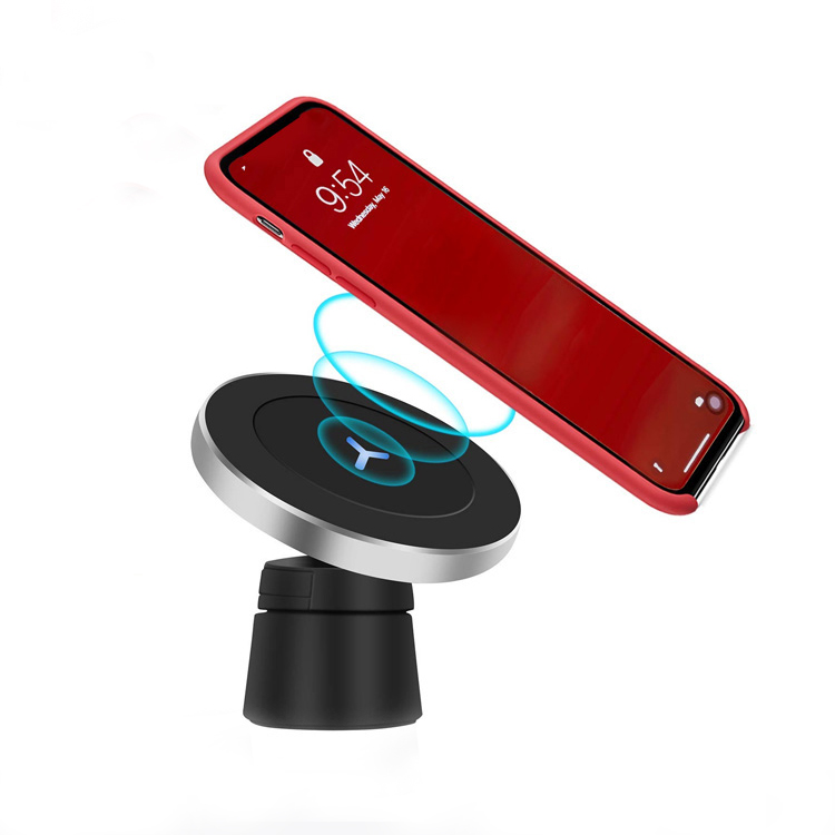 Magnetic Car Phone Qi Charger Air Vent Mount Holder Car Wireless Charger 5W