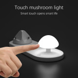 Fast Qi Wireless Charger Desk Lamp LED 3 in 1 Mushroom Night Light Phone Holder Wireless Charging Pad