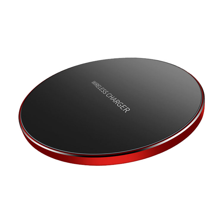 Amazon Top Seller 10W Fast Wireless Charger Pad Alloy Wireless Charging Compatible with IP Xs XR X 8/8P/SA S9 S8 S7