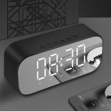 mirror LED alarm clock wireless speaker bluetooth support AUX TF card