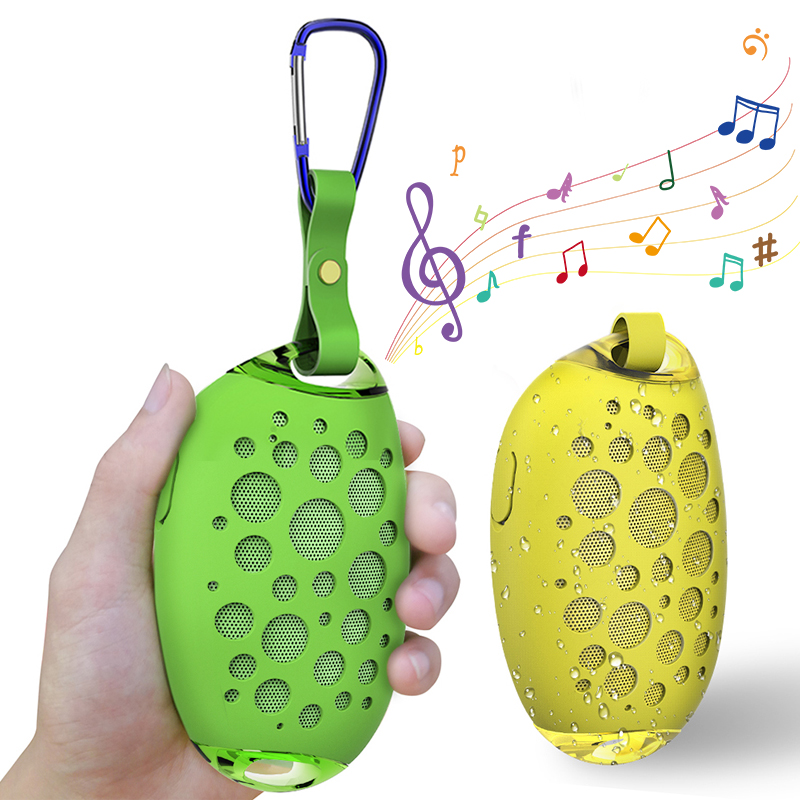 Mini Mango Wireless Bluetooth Speaker Portable Outdoor Stereo Speakers With Mic Hook IPX5 Waterproof Support Handsfree Call