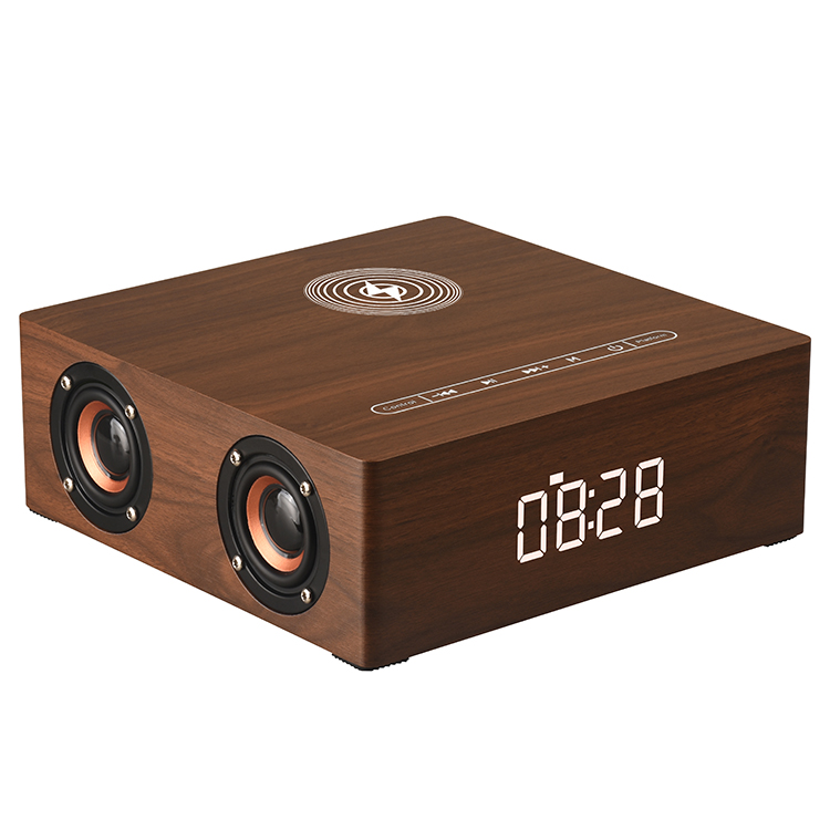 3 in 1 multifunct bluetooth speaker 12W with alarm clock and wireless charger