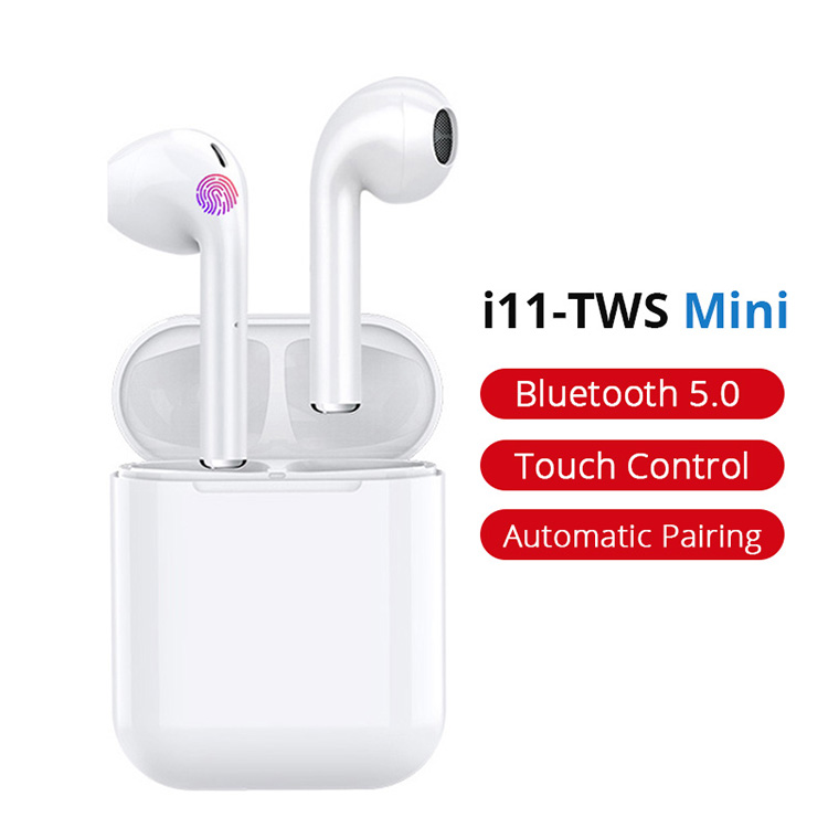 i11 Touch Control Pop-up Window Hand Free Earphone Wireless Earbuds