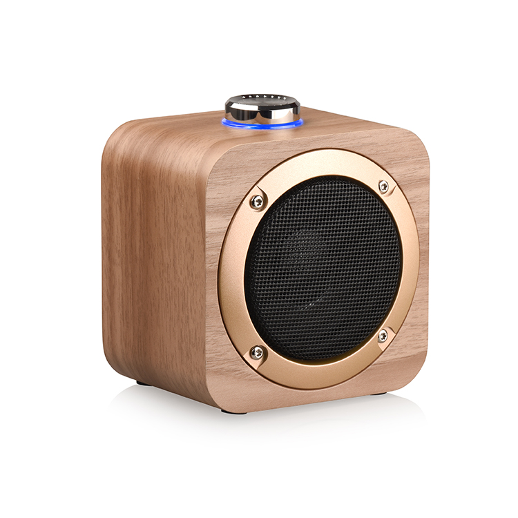 Wooden grain subwoofer TWS bluetooth wireless speaker