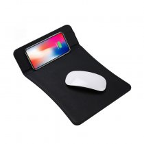 universal leather mobile phone qi wireless charger mouse pad