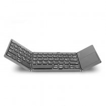 Portable Twice Folding Wireless Keyboard Foldable Touch Keypad for IOS/Android/Windows Tablet