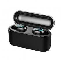 Q32 True Wireless Earbuds TWS Stereo Bluetooth 5.0 Headphones IPX5 Waterproof Sports Earphone with Charging Case
