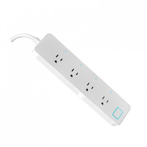 WiFi Smart Power Strip Socket, Smart Home Switch Power Strip with 4 Outlets Work with Alexa Remote Controlled Power Strip