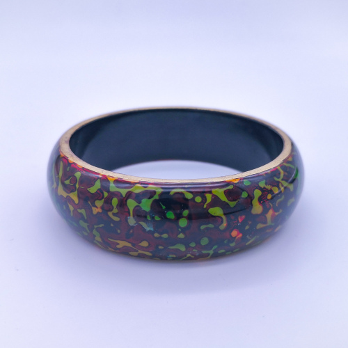 Pingyao Lacquer Bracelet - Tortoiseshell Brown