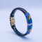Burning Blue Cloisonné Bracelet - Wood Forbidden City