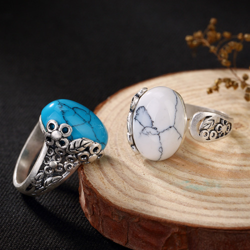 Magnesite Sterling Silver Turquoise Ring