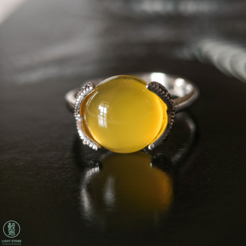 Yellow Chalcedony Mosaic Ring