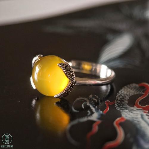 Yellow Chalcedony Mosaic Ring
