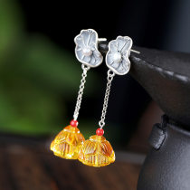 Lotus Root - Beeswax Silver Earrings