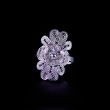 Flower -Miao Silver Filigree Ring
