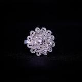 Blossom Flower - Miao Silver Filigree Ring