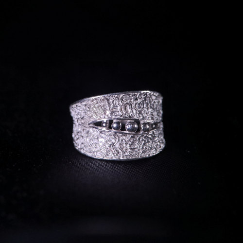 Bean - Miao Silver Filigree Ring