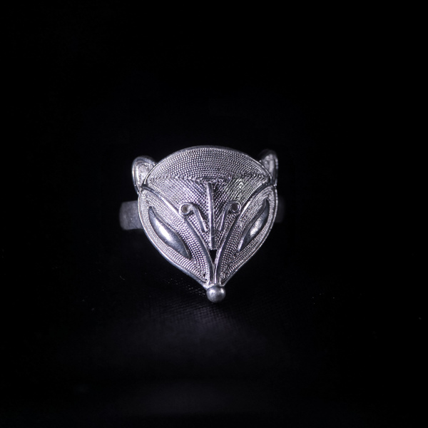 Fox -Miao Silver Filigree Ring