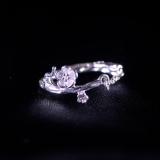 Plum Flower - Miao Silver Filigree Ring