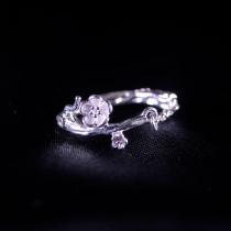 Plum Flower - Miao Silver Filigree Ring
