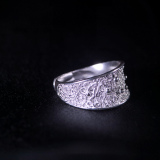 Stars - Miao Silver Filigree Ring