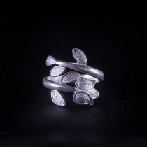 Leaf - Miao Silver Filigree Ring