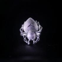 Spider - Miao Silver Filigree Ring