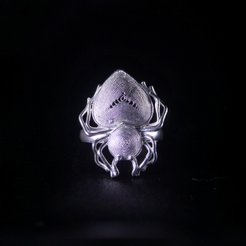 Spider - Miao Silver Filigree Ring