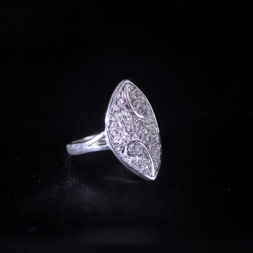 Sprout-Miao Silver Filigree  Ring