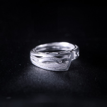 Wave- Miao Silver Filigree Ring
