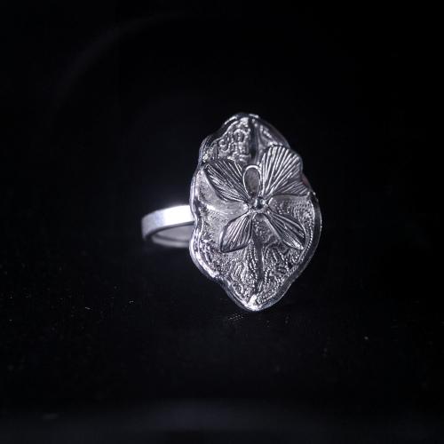 Lotus- Miao Silver Filigree Ring