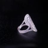 Sun Drum- Miao Silver Filigree Ring