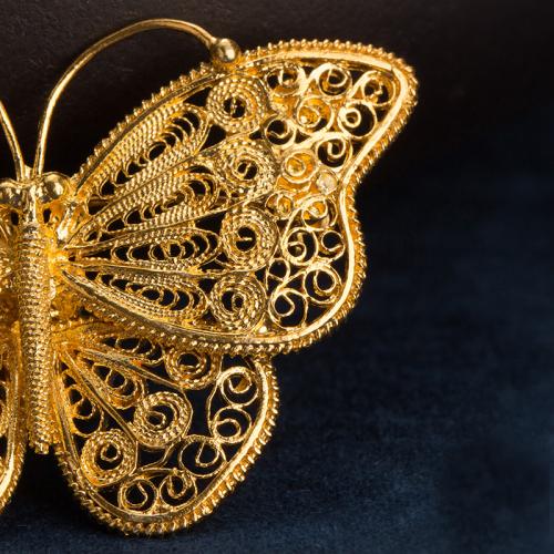 Butterfly - Filigree Brooch - Fobiden City Royal Family