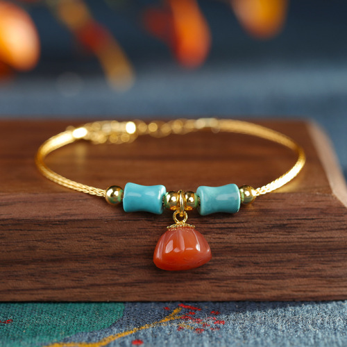Remembrance - Red Agate Bracelet