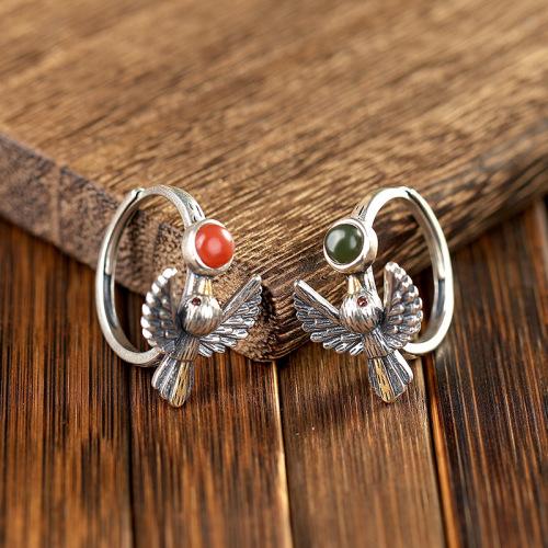 Garuda - Jade&Aagte Silver Ring
