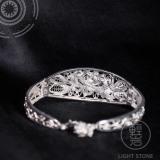 Lily - Miao Silver Filigree Bracelet