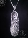 Straw Sandals - Miao Silver Filigree Necklace