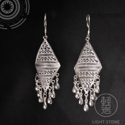 Clouds - Miao Silver Filigree Earrings