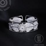 Butterfly - Miao Silver Filigree Bangle
