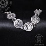 Butterfly - Miao Filigree Silver Bracelet